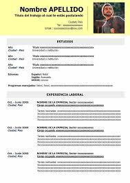 Curriculum Vitae Simple Para Completar E Imprimir Modelo Cv