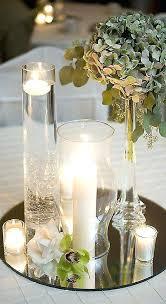 round mirror wedding table centerpieces decoration ideas