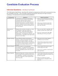 Interview Evaluation Comments Examples 4 Candidate Process Sample ...