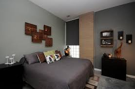 View in gallery Fascinating wall art above the bed using Ikea flooring  tiles and lights