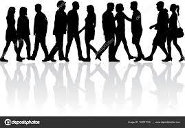 Crowd Of People Walking Stock Vector Pablonis 140721130