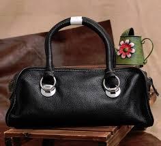 black soft leather bag