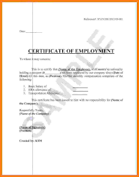 5 Sample Certificate Of Employment With Salary Sales Slip Template
