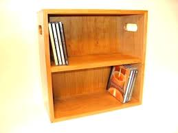 wall mount storage rack simple brown finish cherry wood with single shelves mounted dvd cabinet doors