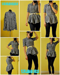 How To Make Shirt How To Make A Peplum Blouse From A Shirt Alldaychic
