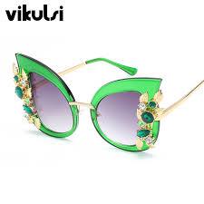 Rhinestone <b>Cat Eye</b> Sunglasses <b>Women</b> Luxury Brand <b>Oversize</b> ...