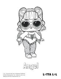 Best Of Lol Doll Coloring Pages And Angel Surprise Doll Coloring