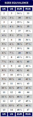 Boot Size Chart Traverse Outdoor Gear