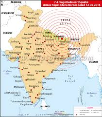 areas affected by earthquake in india bihar, west bengal, assam Nepal India Map india nepal and china earthquake affected areas map nepal india border map