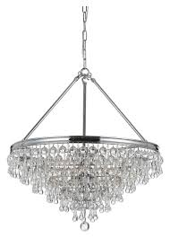 crystorama 136 ch calypso polished chrome finish 20 inch diameter crystal chandelier lamp small loading zoom