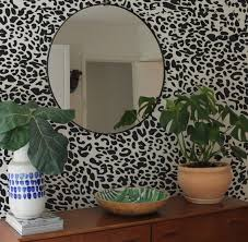 leopard print wall stickers removable