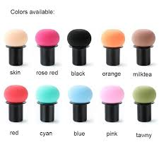 2019 b1005 cosmetic sponges with case set mushroom powder puff beauty sponge blender face puff latex free makeup sponges brushes for concealer bb from