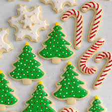 Sugar Cookie Tree Designs Decorated Christmas Cutout Cookies