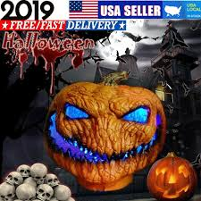Pumpkin Yard Light Cover Details About Halloween Led Light Up Pumpkin Scray Outdoor Yard Lights Party Decoration Props
