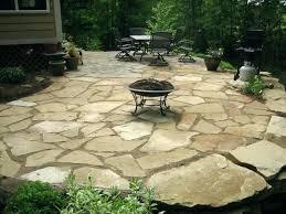 amazing flagstone patio cost costs landscaping around bluestone
