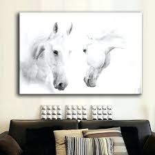 horse prints on canvas wall art prints canvas art prints wall pictures two white horse 5