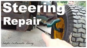 how to fix the steering on a yardman