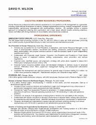 Human Resources Job Description For Resume