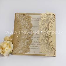 gold laser cut wedding invitation (invitation only) Elegance Wedding Cards Sri Lanka Elegance Wedding Cards Sri Lanka #12 Sri Lankan Wedding Sarees