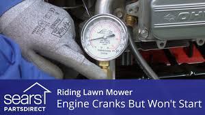 Riding Lawn Mower Engine Cranks But Won't Start - YouTube