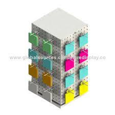 china pegboard counter top 4 way spinner rack