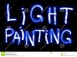 light painting blue elements