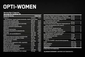 how to take optimum nutrition opti women