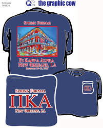 Cool Frat Shirt Designs Pi Kappa Alpha Formal New Orleans Fraternity Shirts