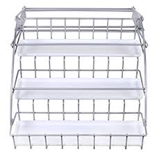 Rubbermaid Coated Wire In Cabinet Spice Rack Amazon Rubbermaid Pull Down White Spice Rack and Satin Nickel 3