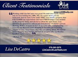 Great work Lisa DeCastro - FL, MA,& NH... - LAER Realty Partners | Facebook