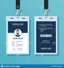 Modern And Clean Id Card Design Template Stock Vector