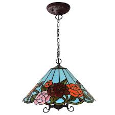antique stained glass chandelier awesome antique style paste créative tiffany art roses en verre stock