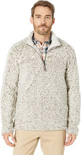 True Grit Mens Frosty Tipped Pile 1 4 Zip Pullover Cargo X Small