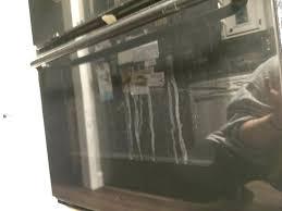 clean between glass on oven door streaky dirty glass on the inside of the oven door