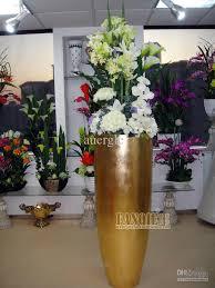 Large floor vase fashion artificial flower modern fashion decoration glazed  steel flower set