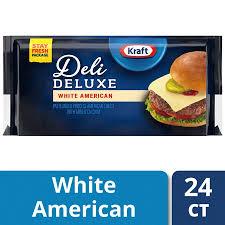 kraft american cheese slices.  Slices Kraft Deli Deluxe White American Cheese Slices 16 Ounce 24 Slices In Slices C