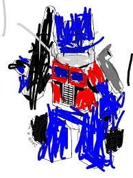 Small Picture Cute Optimus Prime of Trasformers Coloring Page Download Print