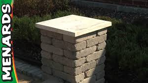 Seating Wall Blocks Concrete Block Columns How To Build Menards Youtube