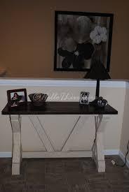 diy fancy x desk for entry way