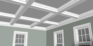 Coffered Ceiling Designs Photos Simple Shaker Style Coffered Ceiling Kuiken Brothers