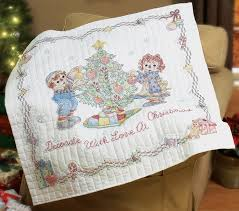 83 best Raggedy Ann Patterns images on Pinterest | Baby toys ... & 45 Raggedy Ann Decorate With Love Lap Quilt Stamped Cross Stitc Adamdwight.com