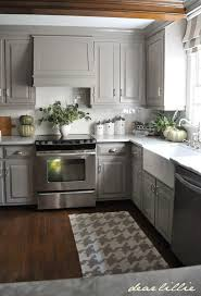 grey painted kitchen cabinets ideas. Dear Lillie: Darker Gray Cabinets And Our Marble Review #LGLimitlessDesign #Contest Grey Painted Kitchen Ideas