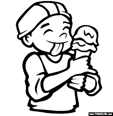Small Picture The Ice Cream Cone Coloring Page Free The Ice Cream Cone Online