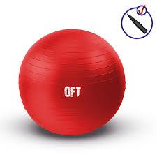 Гимнастический <b>мяч Original FitTools</b>, 65 см, цвет: красный ...