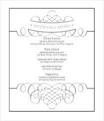 Wedding Reception Templates Free Wedding Menu Template Free Filename Blank Reception Fancy