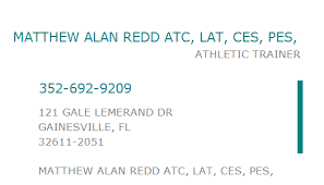 1508416108 NPI Number | MATTHEW ALAN REDD ATC, LAT, CES, PES, |  GAINESVILLE, FL | NPI Registry | Medical Coding Library |  www.HIPAASpace.com © 2020