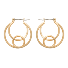 rina spiral hoop earrings