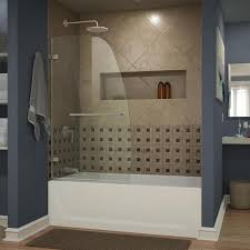 dreamline aqua uno 34 in w x 58 in h frameless bathtub door
