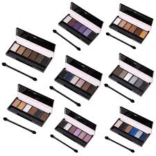 6 colors eyeshadow palette glamorous smokey eye shadow shimmer colors makeup kit high quality long lasting