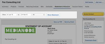 Statement Of Invoices Generate A Statement Of Account Freeagent